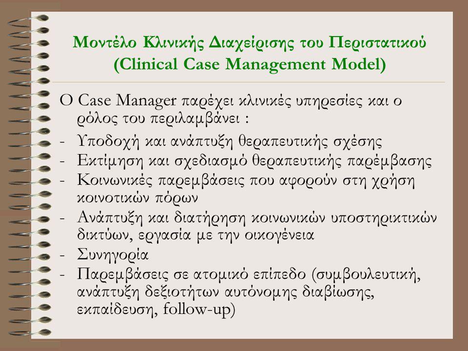 Μοντέλο Κλινικής Διαχείρισης του Περιστατικού (Clinical Case Management Model)