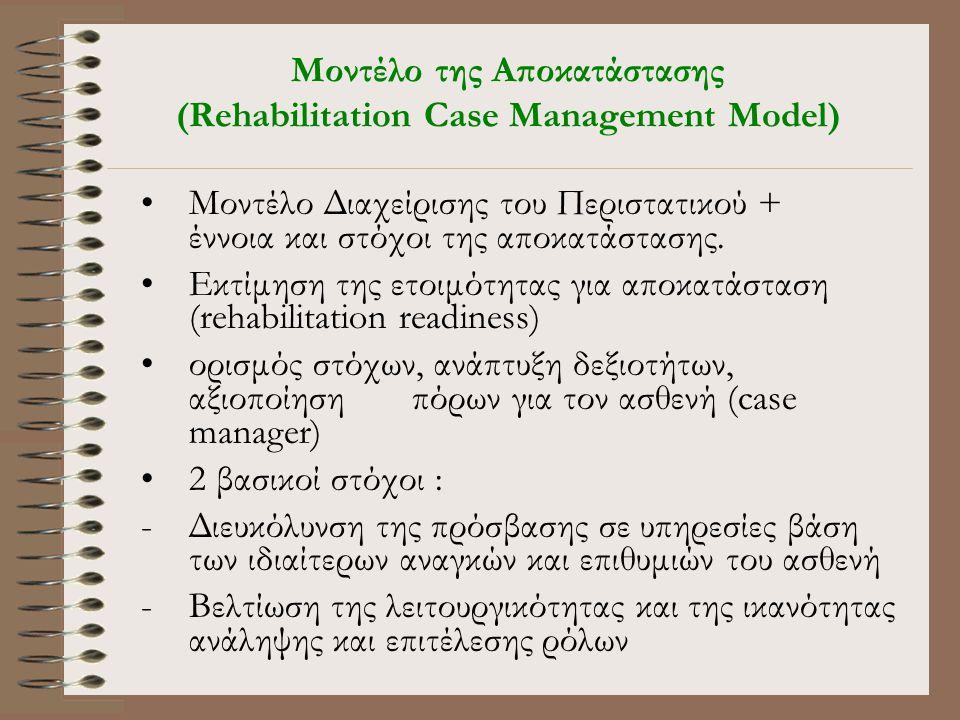 Μοντέλο της Αποκατάστασης (Rehabilitation Case Management Model)