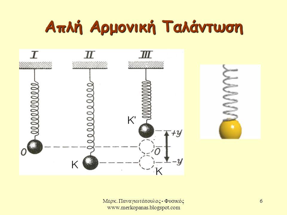 Απλή Αρμονική Ταλάντωση
