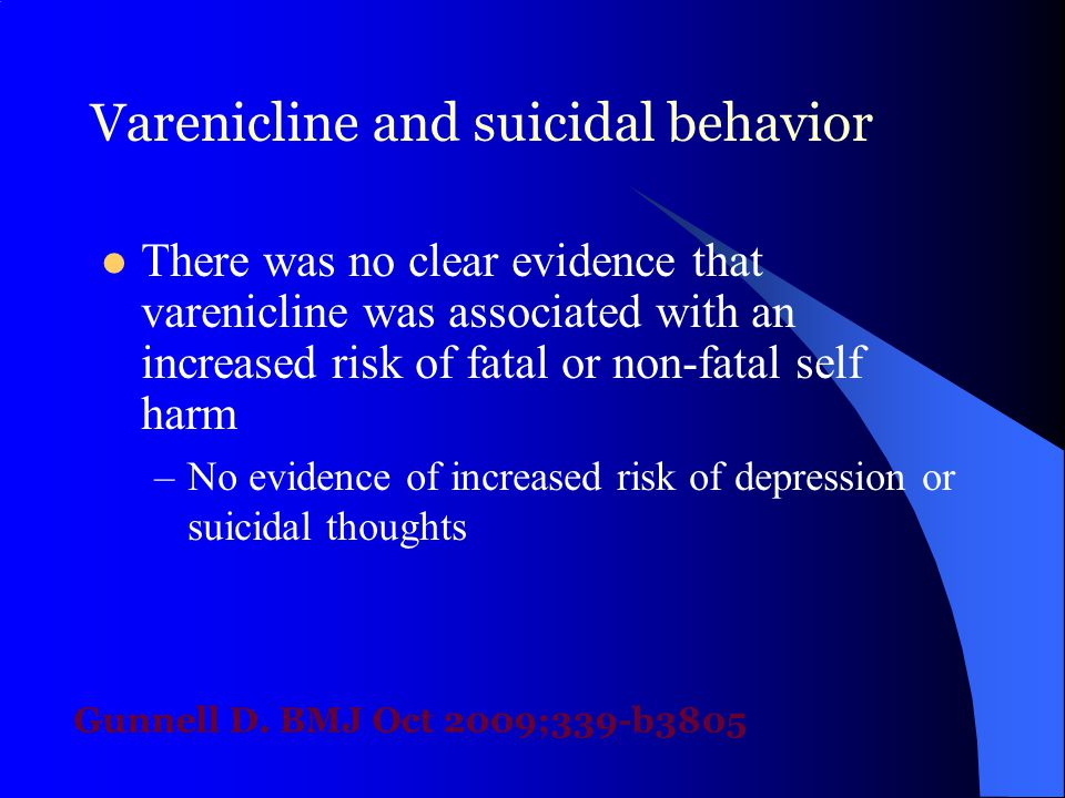 Varenicline and suicidal behavior