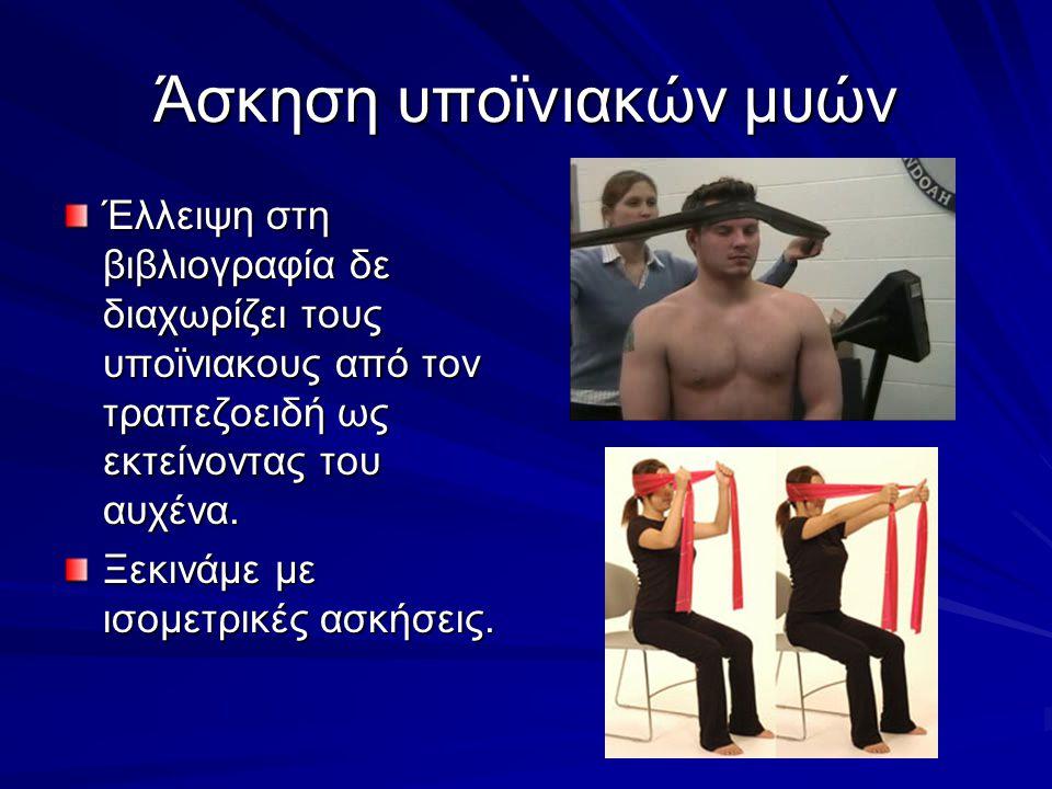 Άσκηση υποϊνιακών μυών