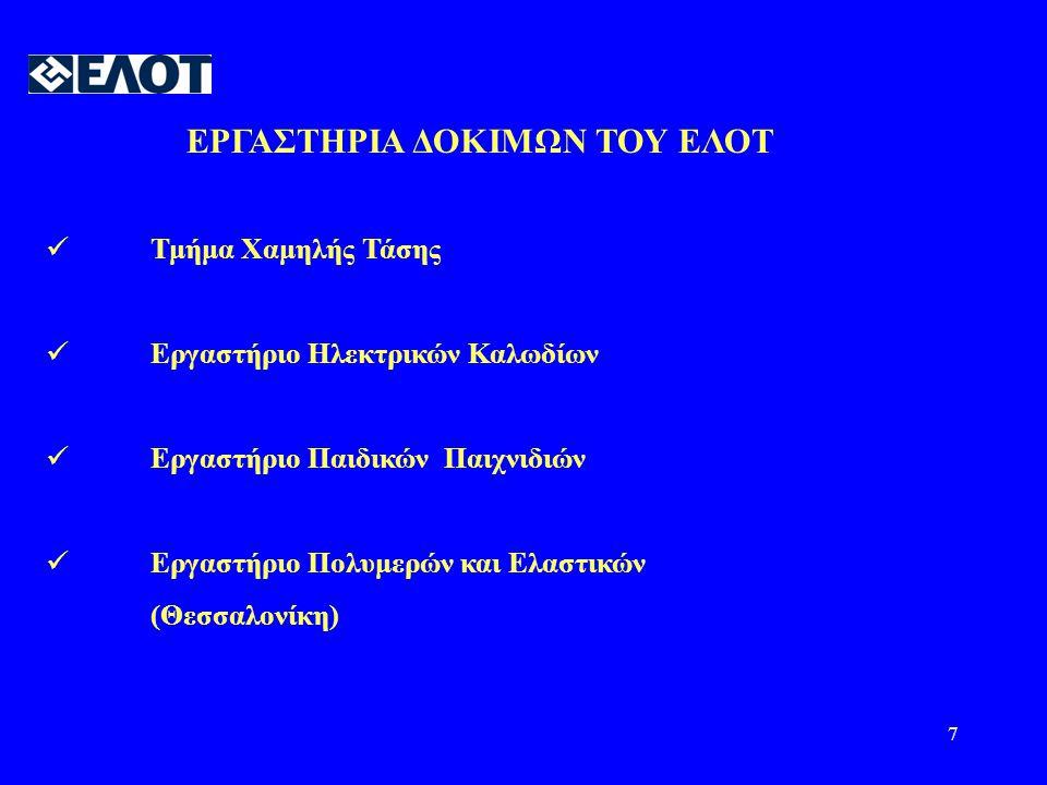 ΕΡΓΑΣΤΗΡΙΑ ΔΟΚΙΜΩΝ ΤΟΥ ΕΛΟΤ