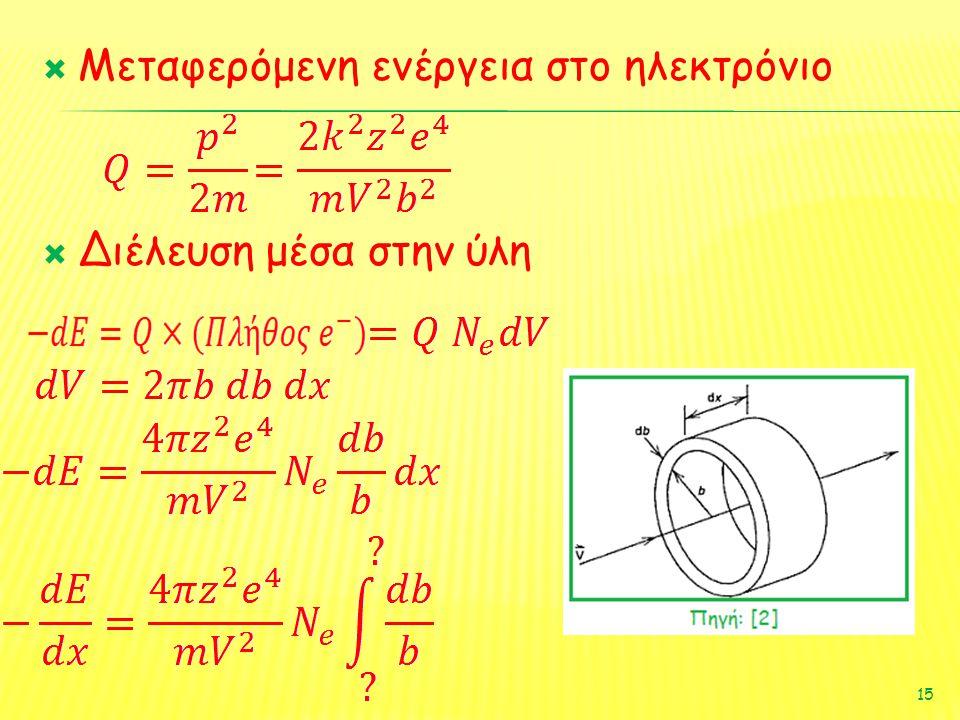 Μεταφερόμενη ενέργεια στο ηλεκτρόνιο