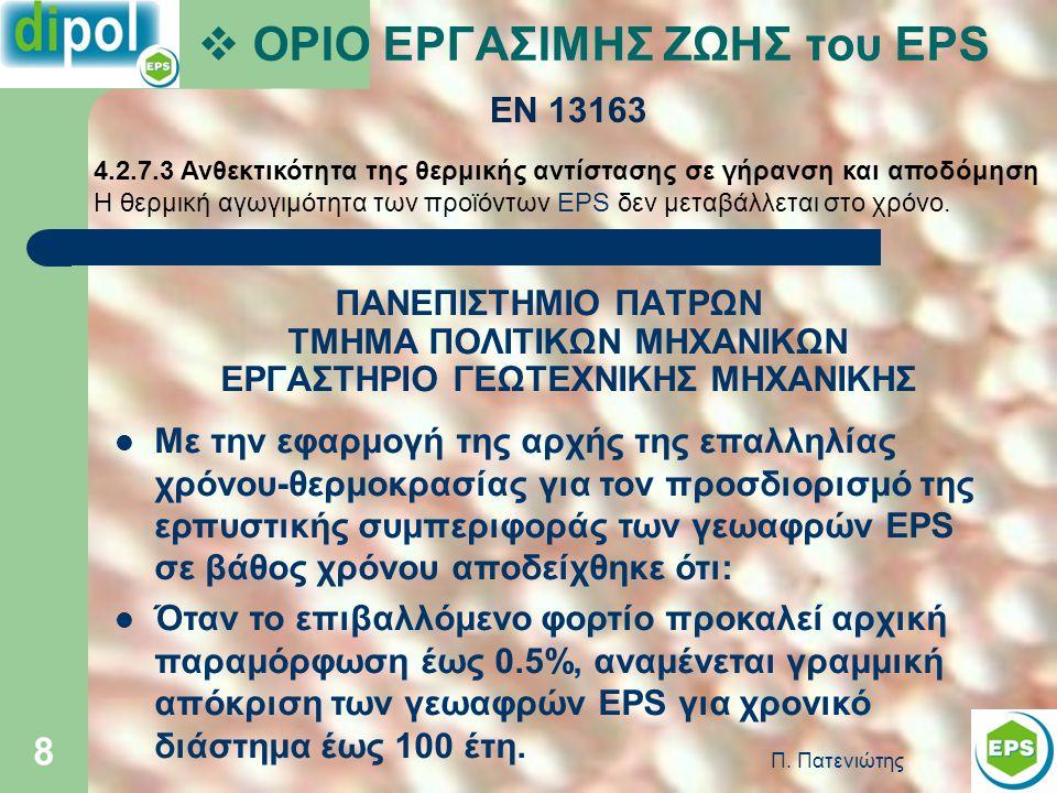 ΟΡΙΟ ΕΡΓΑΣΙΜΗΣ ΖΩΗΣ του EPS