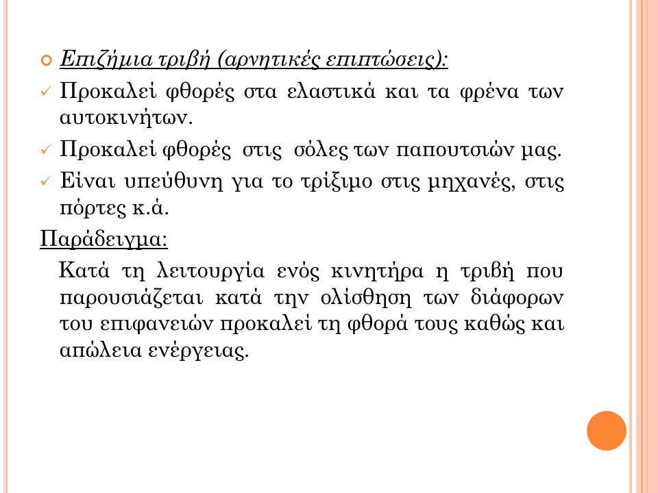 Επιζήμια τριβή (αρνητικές επιπτώσεις):