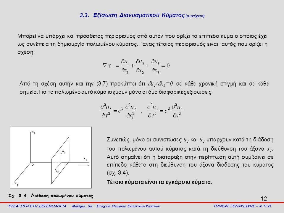 3.3. Εξίσωση Διανυσματικού Κύματος (συνέχεια)