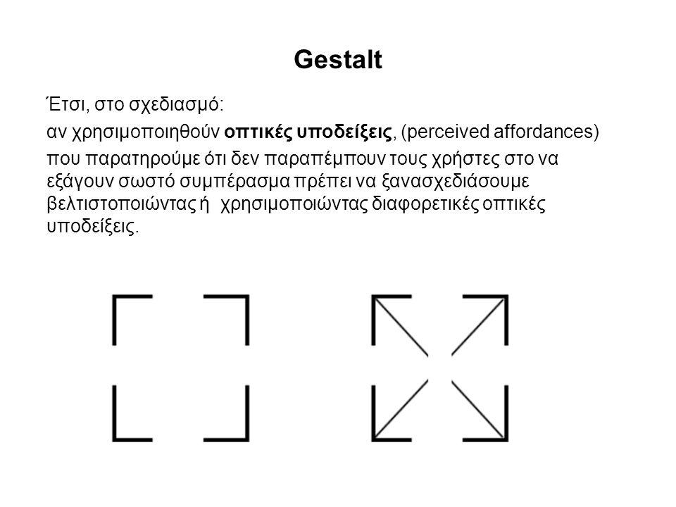 Gestalt Έτσι, στο σχεδιασμό: