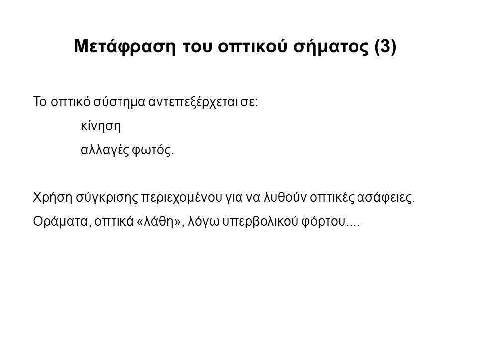 Μετάφραση του οπτικού σήματος (3)