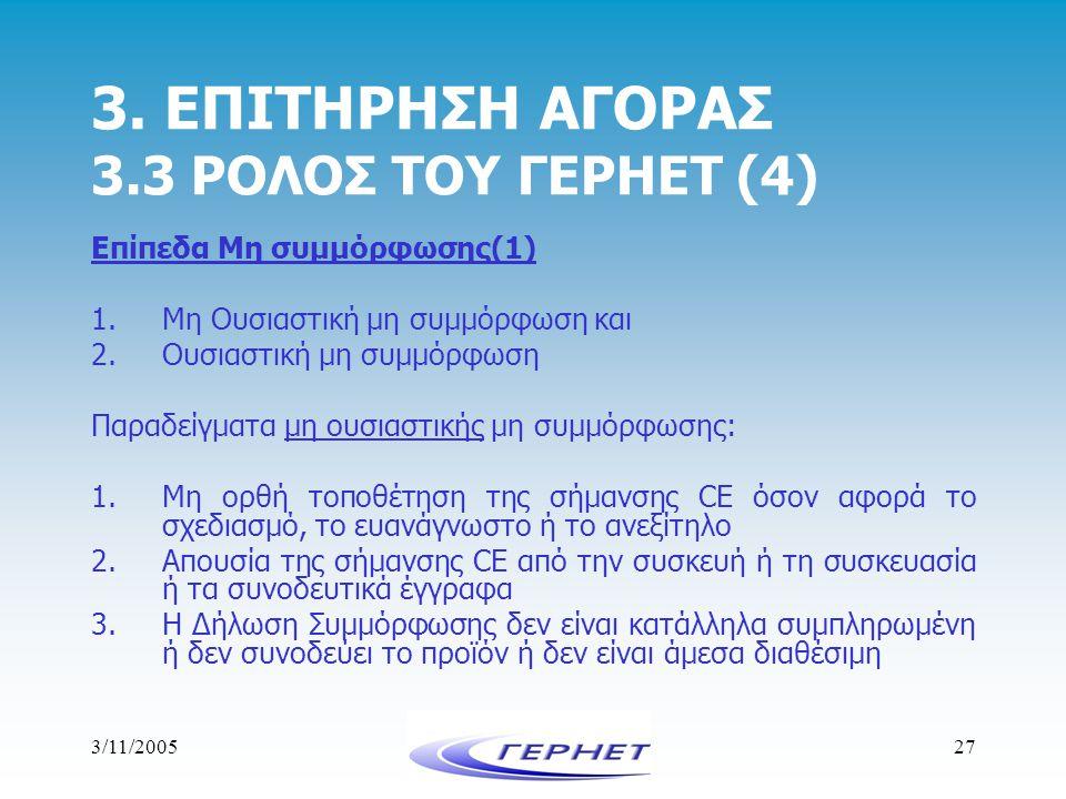 3. ΕΠΙΤΗΡΗΣΗ ΑΓΟΡΑΣ 3.3 ΡΟΛΟΣ ΤΟΥ ΓΕΡΗΕΤ (4)