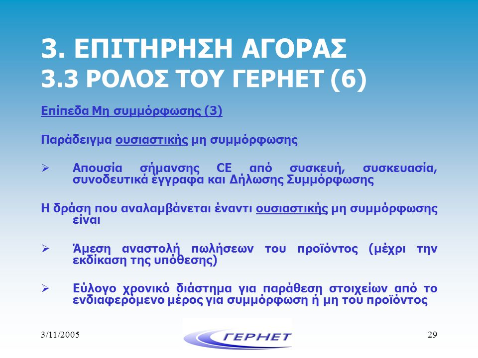 3. ΕΠΙΤΗΡΗΣΗ ΑΓΟΡΑΣ 3.3 ΡΟΛΟΣ ΤΟΥ ΓΕΡΗΕΤ (6)