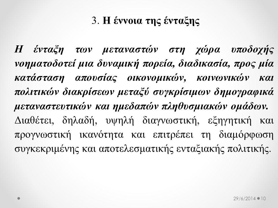 3. Η έννοια της ένταξης