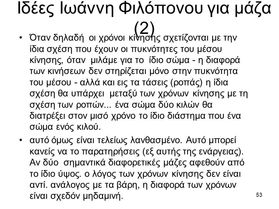 Ιδέες Ιωάννη Φιλόπονου για μάζα (2)
