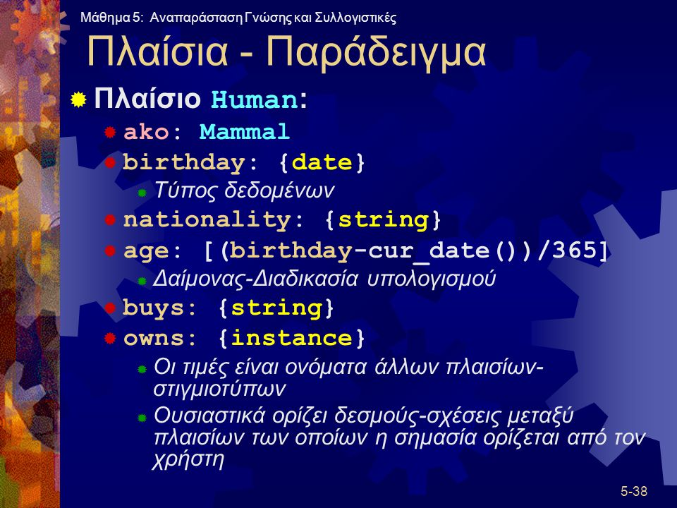 Πλαίσια - Παράδειγμα Πλαίσιο Human: ako: Mammal birthday: {date}