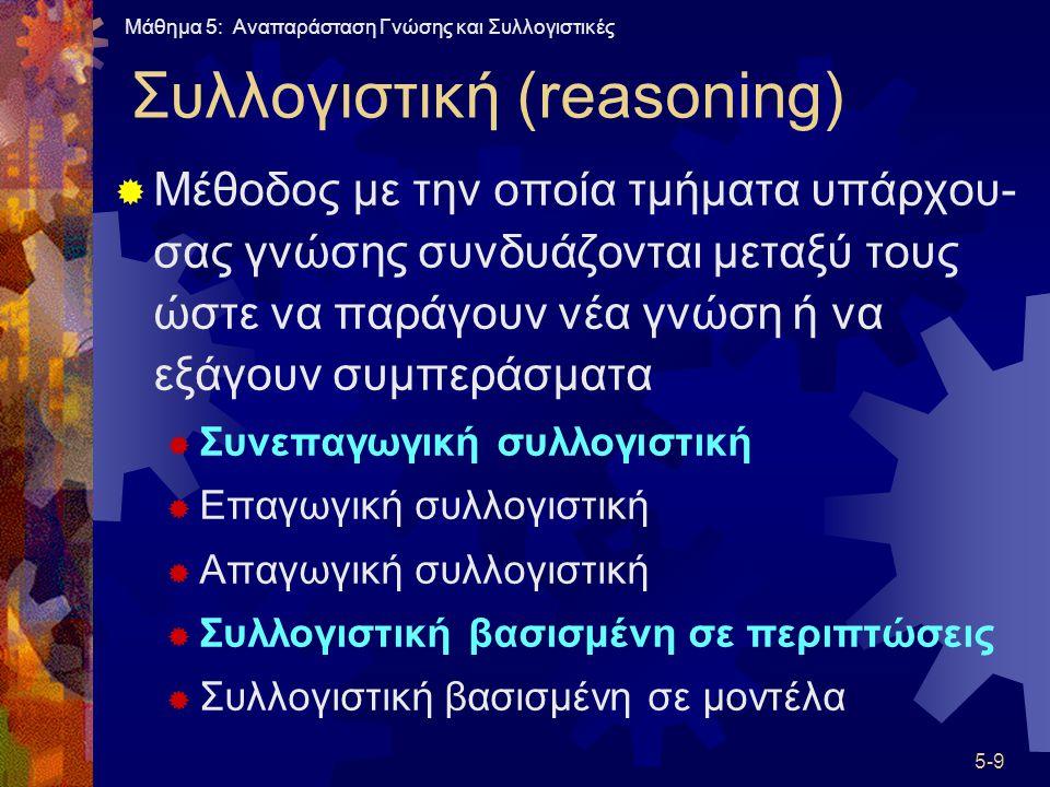 Συλλογιστική (reasoning)
