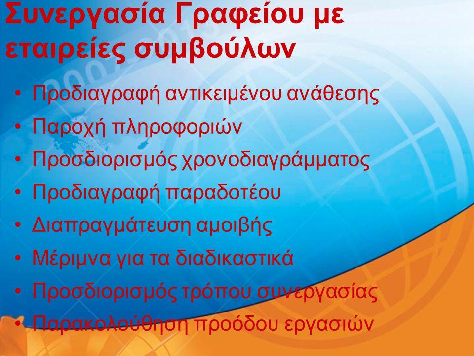 Συνεργασία Γραφείου με εταιρείες συμβούλων