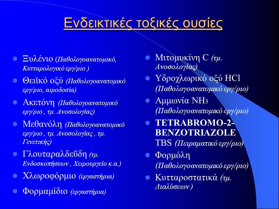 Ενδεικτικές τοξικές ουσίες