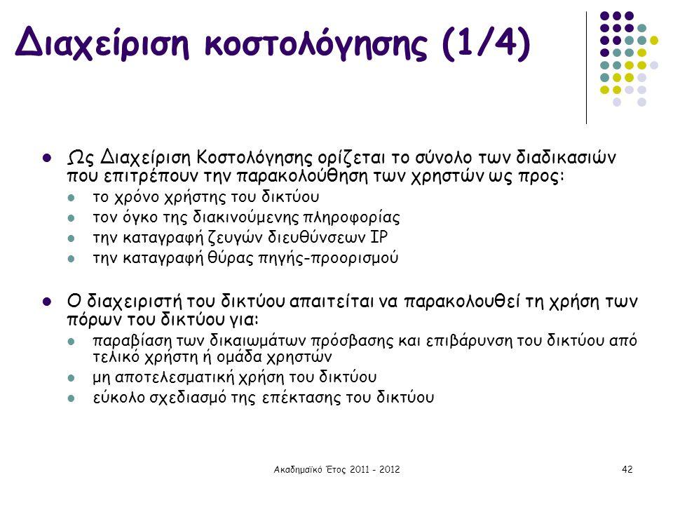 Διαχείριση κοστολόγησης (1/4)