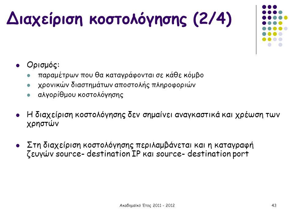 Διαχείριση κοστολόγησης (2/4)