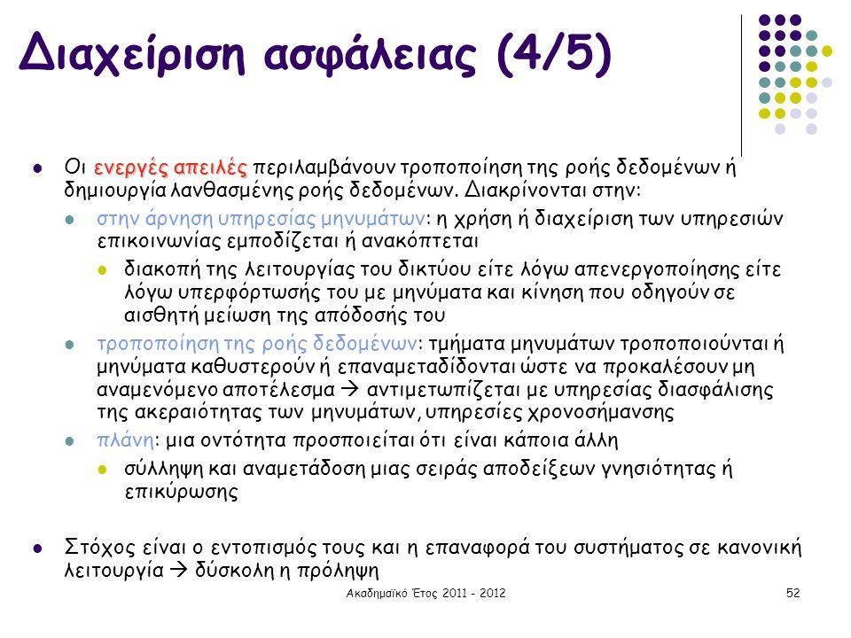 Διαχείριση ασφάλειας (4/5)