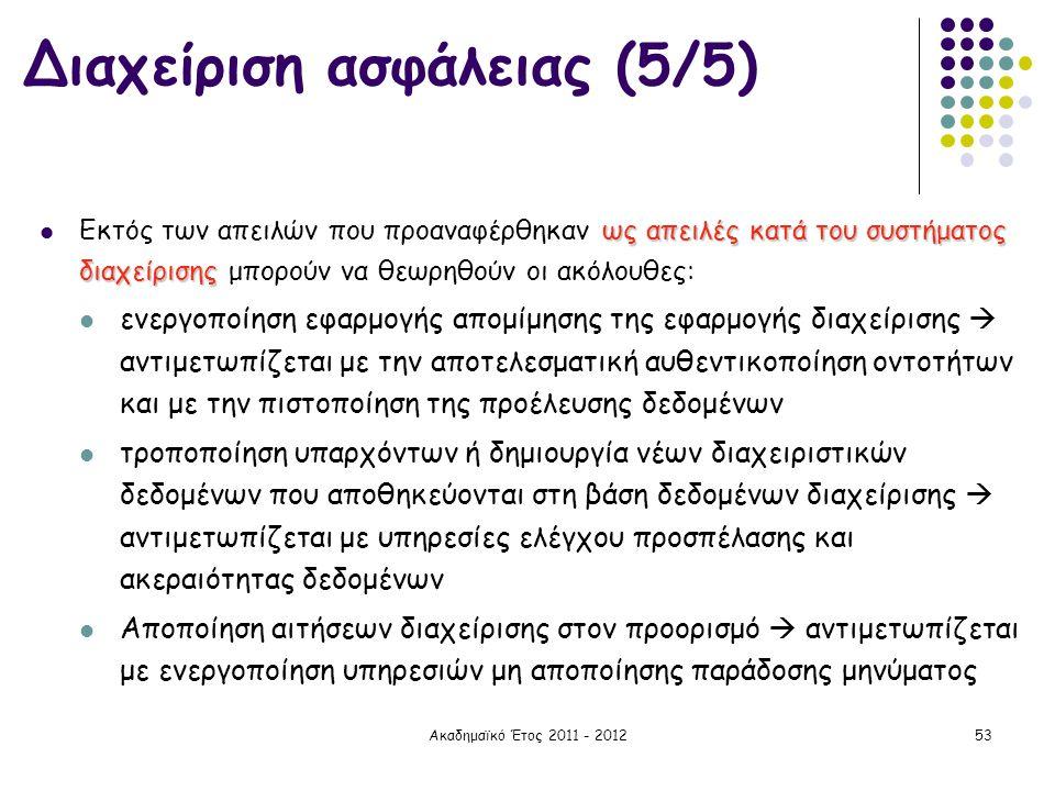 Διαχείριση ασφάλειας (5/5)