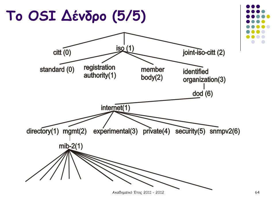 Το OSI Δένδρο (5/5) Ακαδημαϊκό Έτος 2011 - 2012