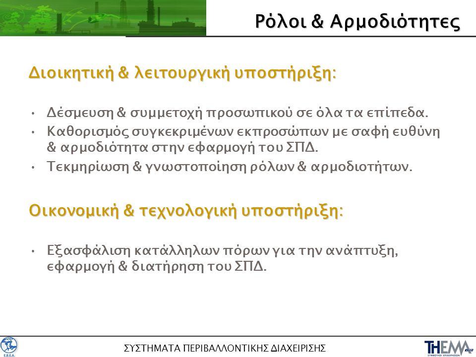 ΣΥΣΤΗΜΑΤΑ ΠΕΡΙΒΑΛΛΟΝΤΙΚΗΣ ΔΙΑΧΕΙΡΙΣΗΣ