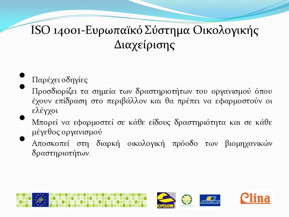 ISO 14001-Ευρωπαϊκό Σύστημα Οικολογικής Διαχείρισης