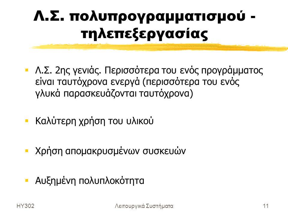 Λ.Σ. πολυπρογραμματισμού - τηλεπεξεργασίας