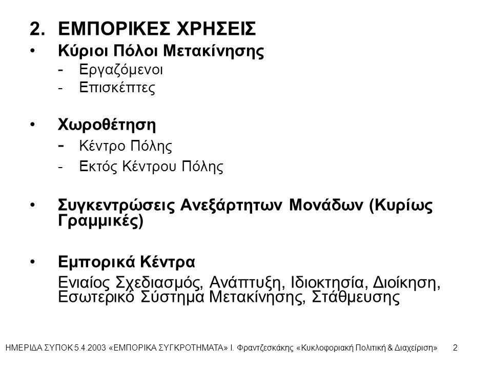2. ΕΜΠΟΡΙΚΕΣ ΧΡΗΣΕΙΣ - Κέντρο Πόλης