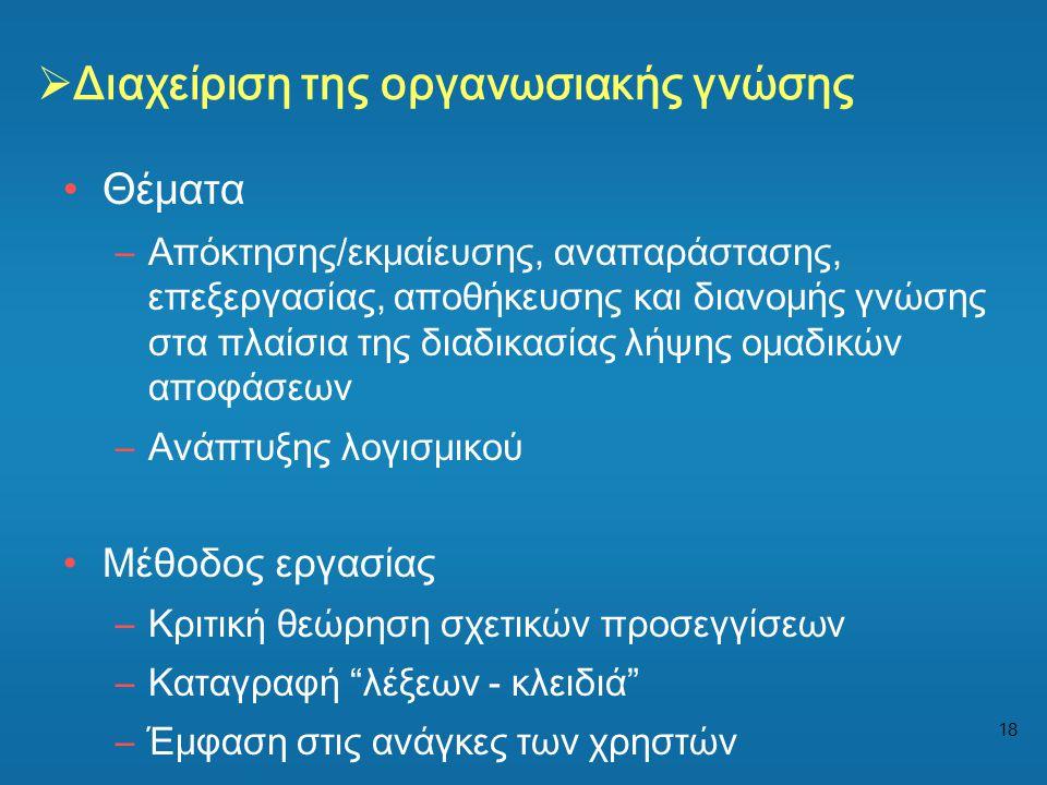 Διαχείριση της οργανωσιακής γνώσης