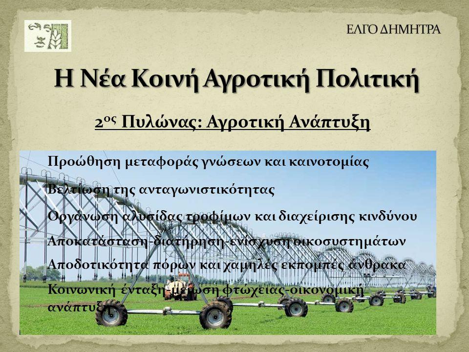 2ος Πυλώνας: Αγροτική Ανάπτυξη
