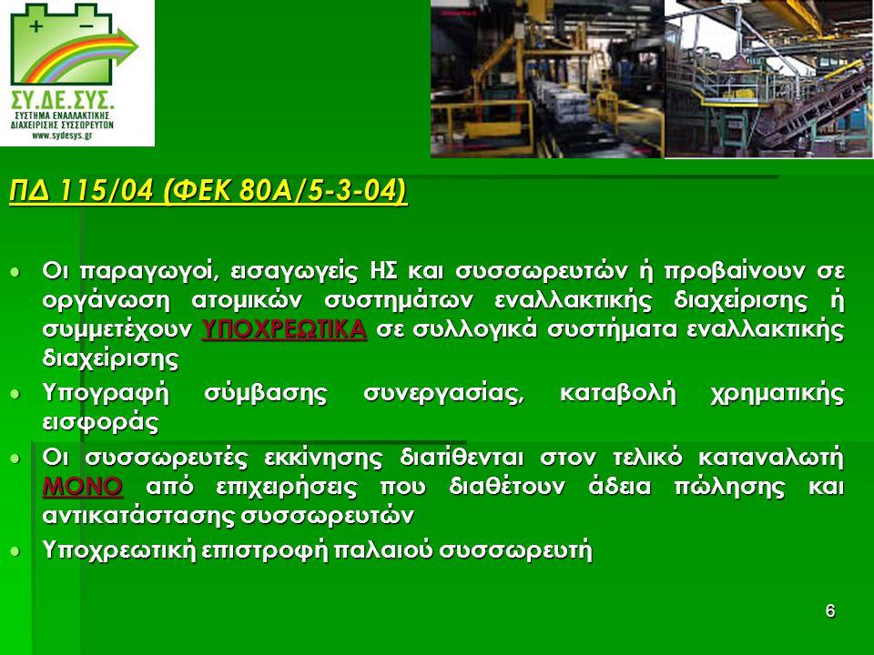 ΠΔ 115/04 (ΦΕΚ 80Α/5-3-04)