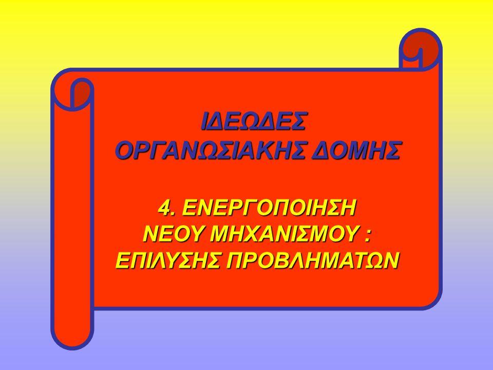 ΙΔΕΩΔΕΣ ΟΡΓΑΝΩΣΙΑΚΗΣ ΔΟΜΗΣ