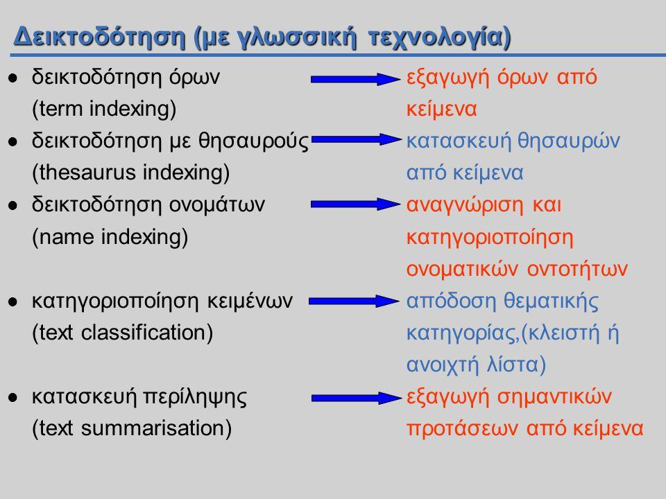 Δεικτοδότηση (με γλωσσική τεχνολογία)