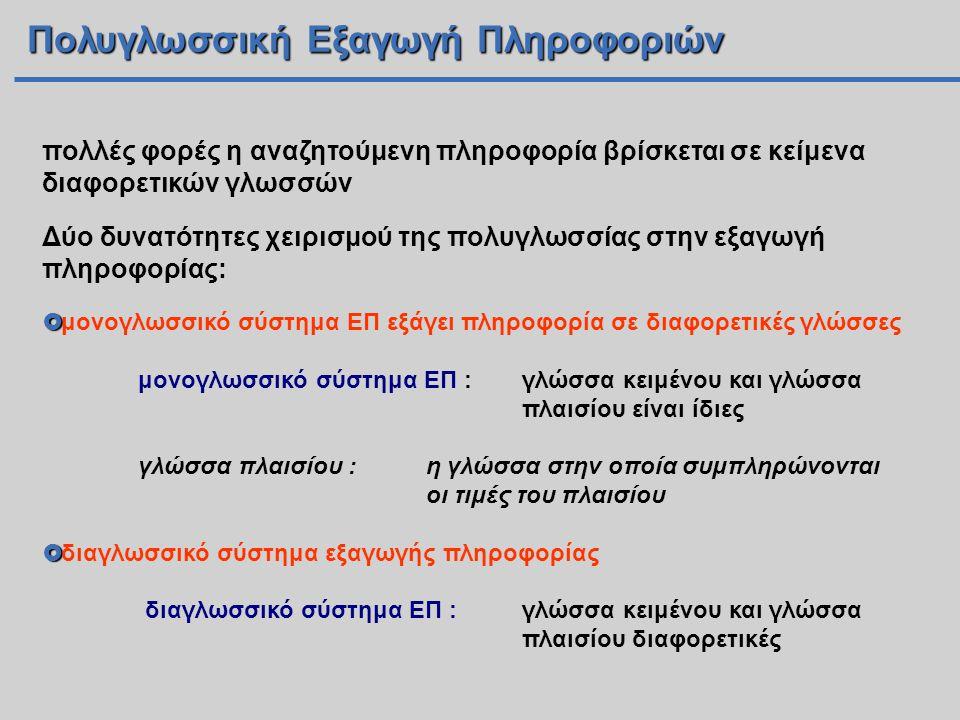 Πολυγλωσσική Εξαγωγή Πληροφοριών