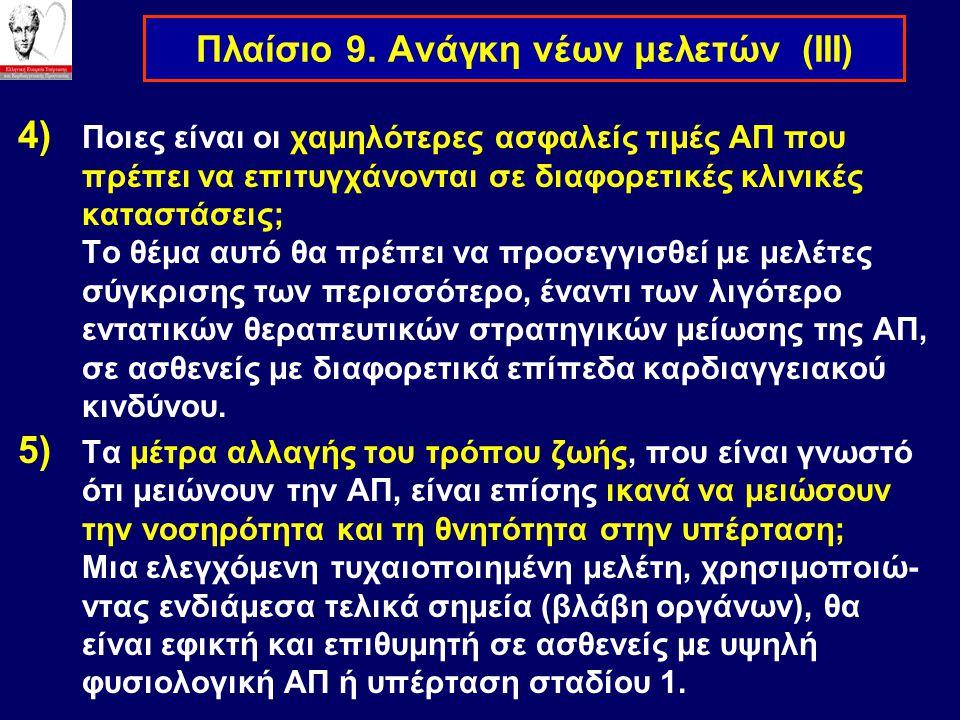 Πλαίσιο 9. Ανάγκη νέων μελετών (ΙΙΙ)