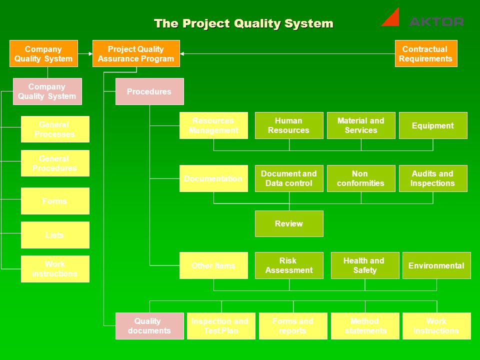 The Project Quality System
