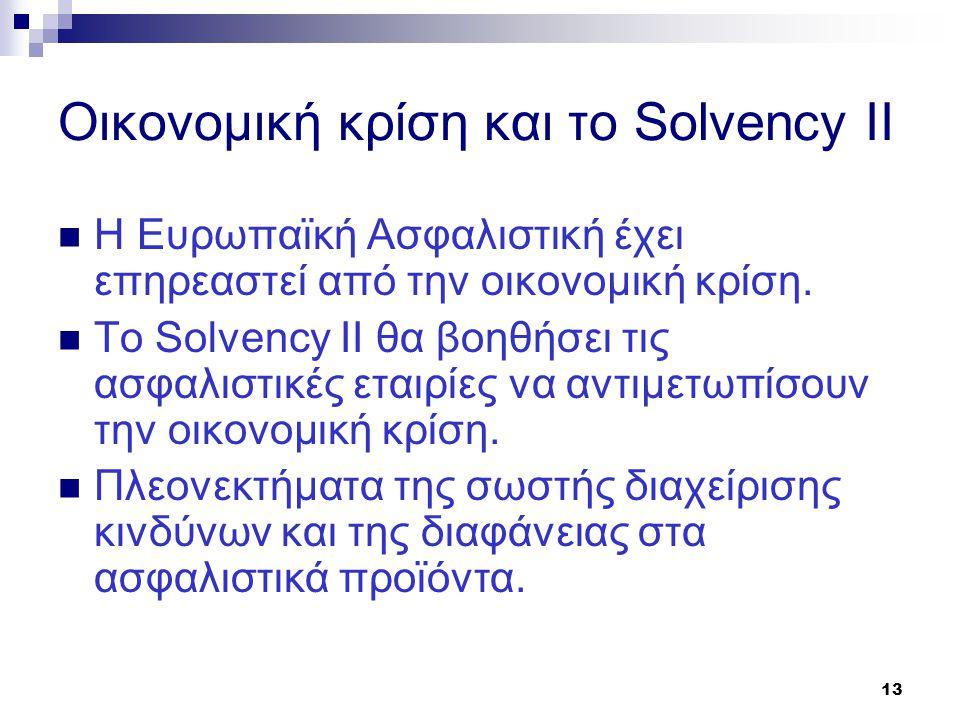 Οικονομική κρίση και το Solvency II
