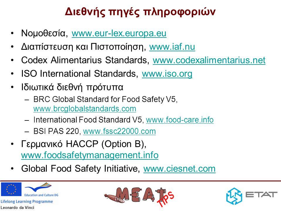 Διεθνής πηγές πληροφοριών