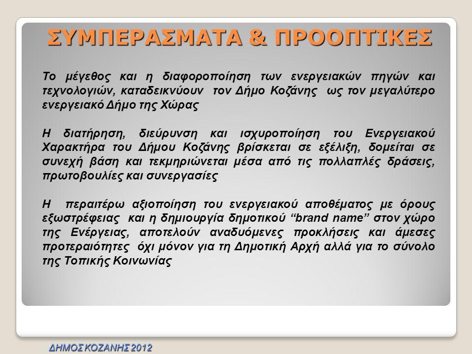 ΣΥΜΠΕΡΑΣΜΑΤΑ & ΠΡΟΟΠΤΙΚΕΣ