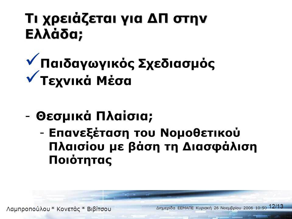 Τι χρειάζεται για ΔΠ στην Ελλάδα;