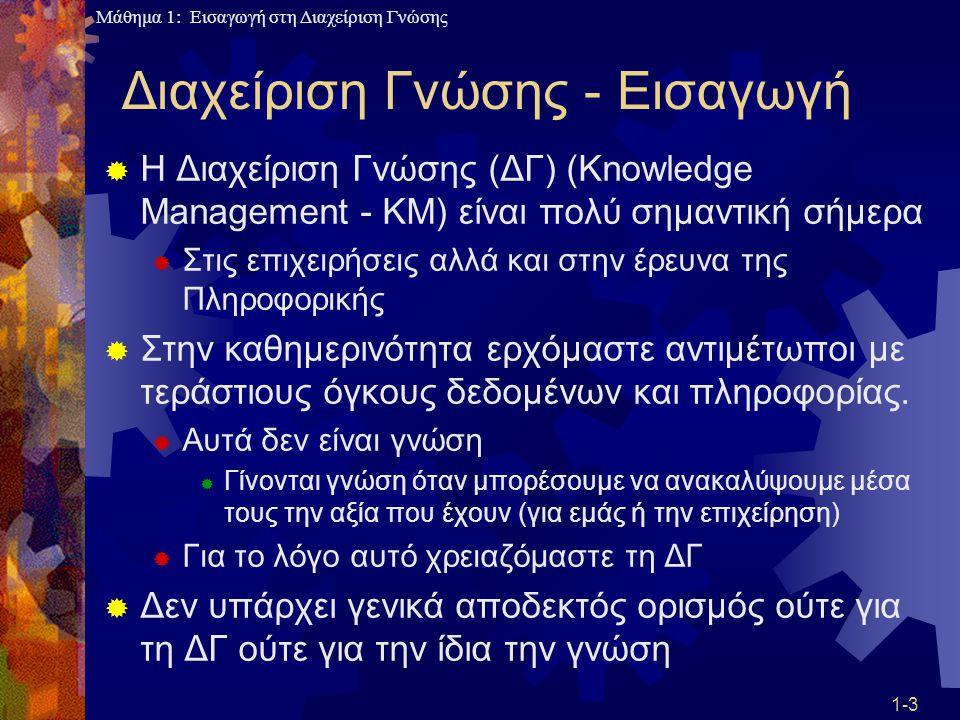 Διαχείριση Γνώσης - Εισαγωγή