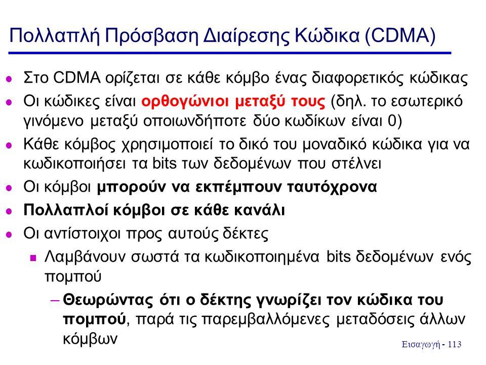 Πολλαπλή Πρόσβαση Διαίρεσης Κώδικα (CDMA)