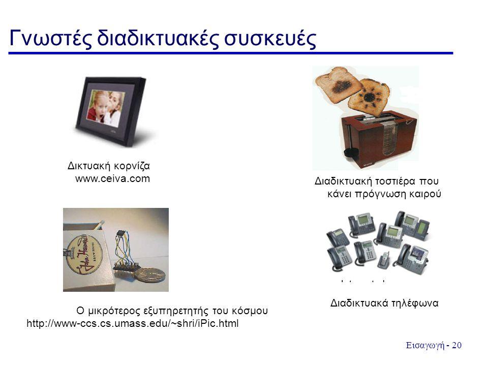 Γνωστές διαδικτυακές συσκευές