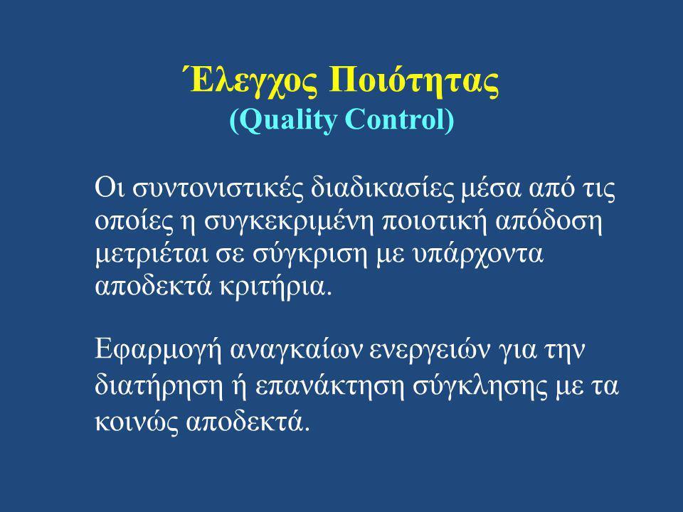 Έλεγχος Ποιότητας (Quality Control)