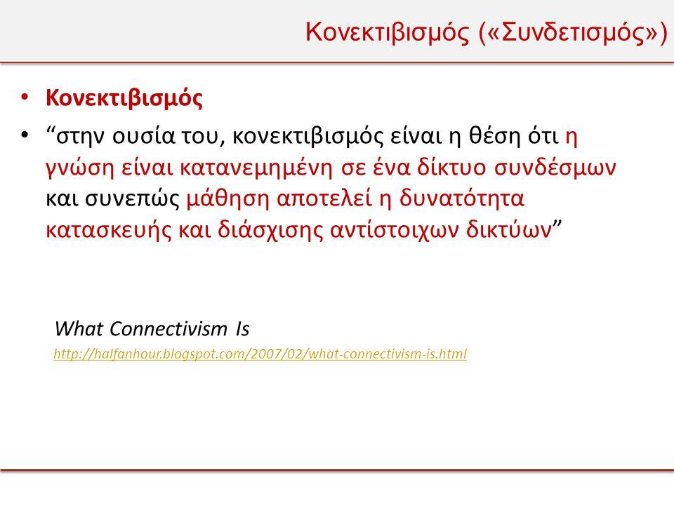 Κονεκτιβισμός («Συνδετισμός»)