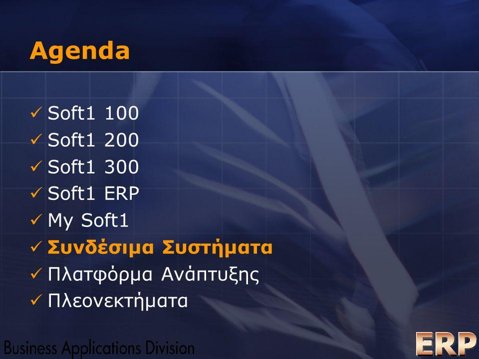 Agenda Soft1 100 Soft1 200 Soft1 300 Soft1 ERP My Soft1