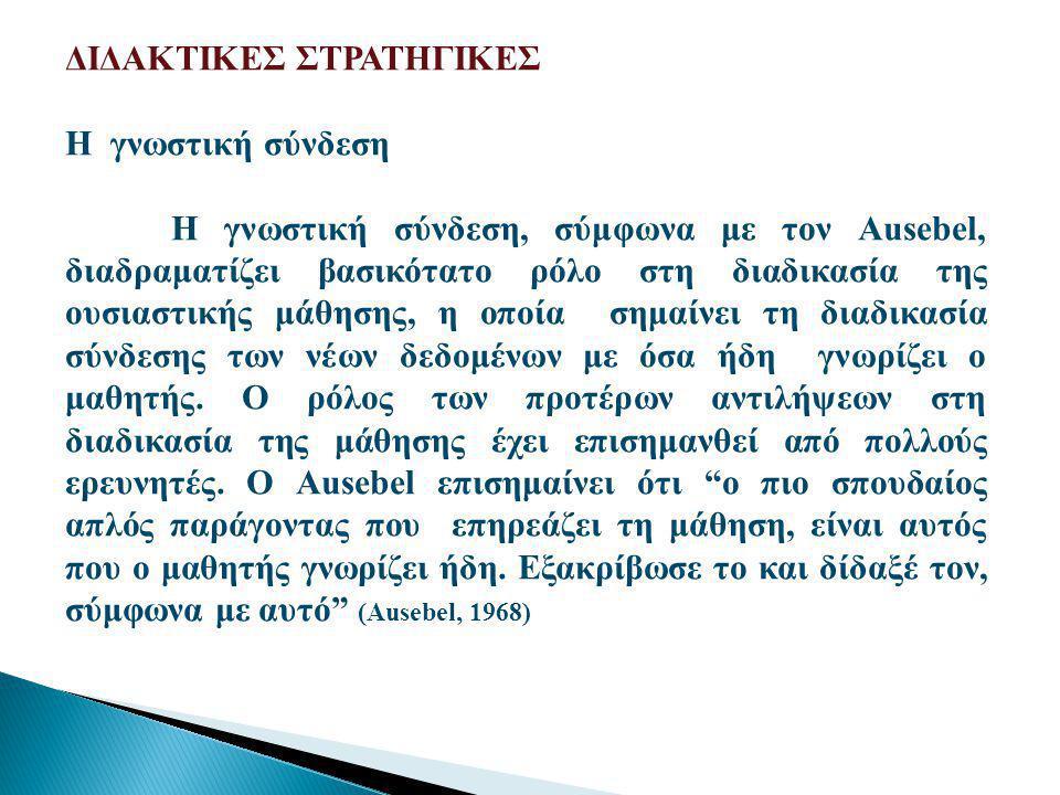 ΔΙΔΑΚΤΙΚΕΣ ΣΤΡΑΤΗΓΙΚΕΣ