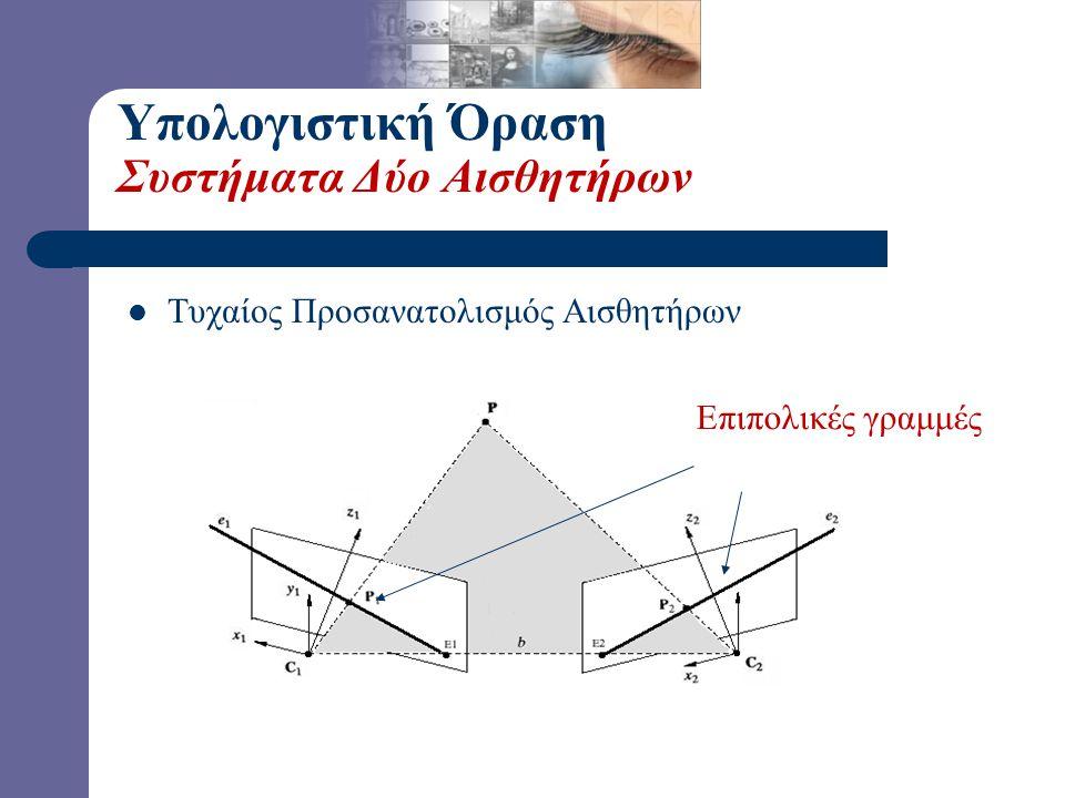 Υπολογιστική Όραση Συστήματα Δύο Αισθητήρων