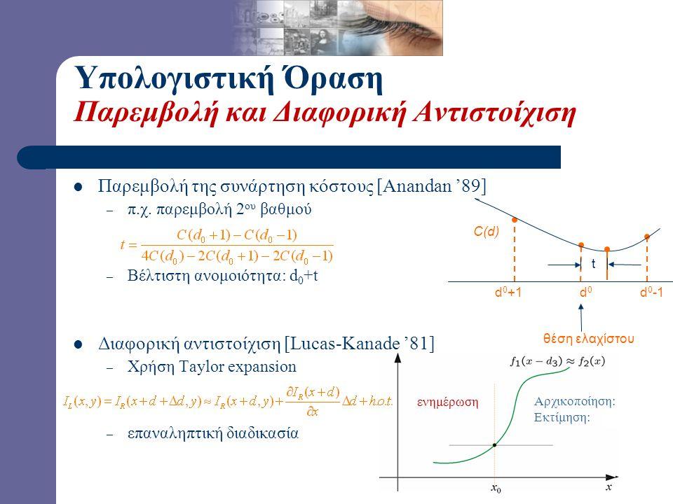 Υπολογιστική Όραση Παρεμβολή και Διαφορική Αντιστοίχιση